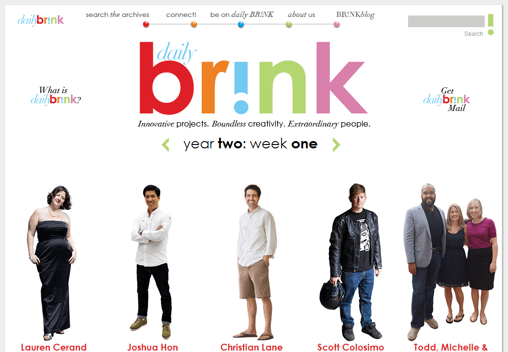 Screenshot of Daily Brink