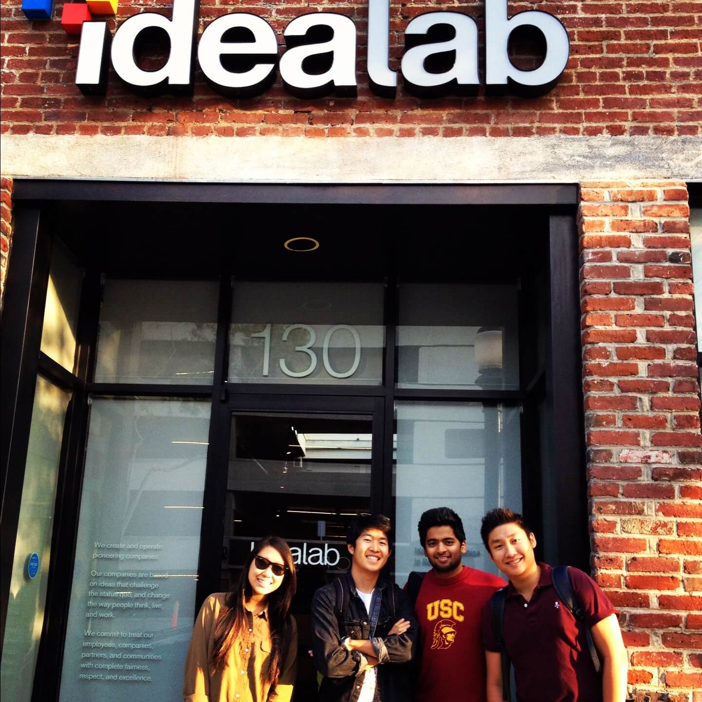 Team TINT in front of Idealab