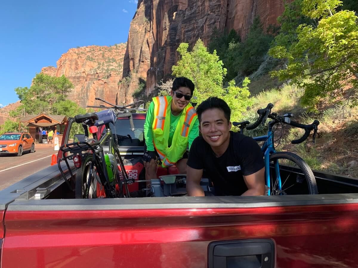 hitchhike zion tunnel